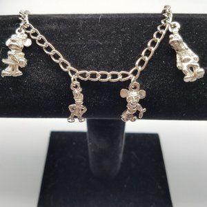 Disney VTG Silver Charm Bracelet